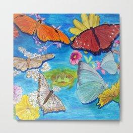 Butterfly dance Metal Print