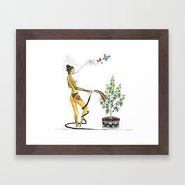 Rainbow Weed Babe - Higher Life Framed Art Print