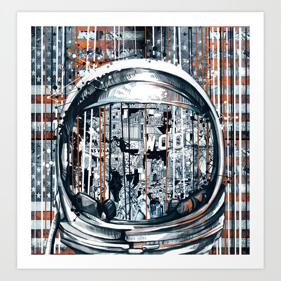 pop art usa collage 2 Art Print