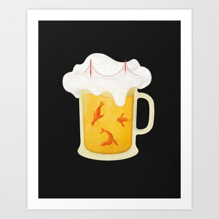 San Francisco Beer Art Print