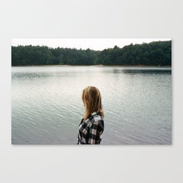 Gazing in the Distance - 35mm Film Canvas Print