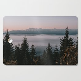 Faraway Mountains - Landscape and Nature Photography Cutting Board