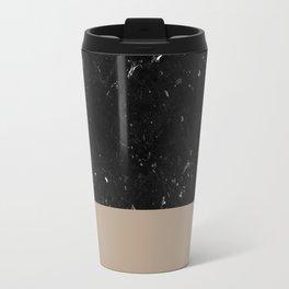 Sepia Meets Black Marble #1 #decor #art #society6 Travel Mug