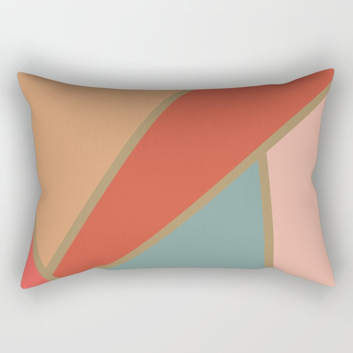 Retro Mosaic Rectangular Pillow