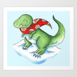 Winter Rex Art Print