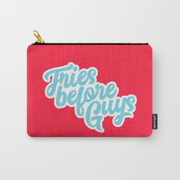 Fries Before Guys Typography Carry-All Pouch