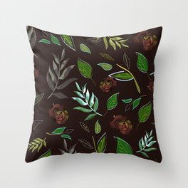 Simple and stylized flowers 16 Throw Pillow