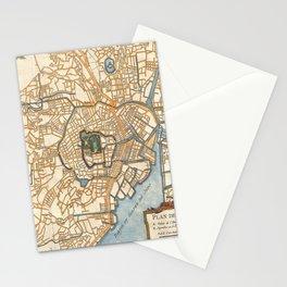 Vintage Map of Tokyo Japan (1752) Stationery Cards