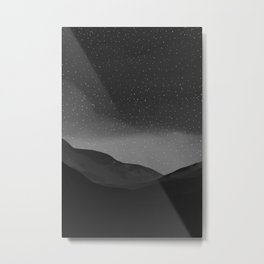 Evening Embrace Atop The Mountain Metal Print