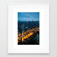 paris Framed Art Prints featuring Paris by Luca Spanu