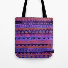 PATTERN {Tribal Stripe- Purple} Tote Bag