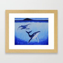 The Whales Tale Framed Art Print