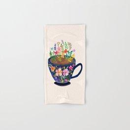 Mug with Flowers Hand & Bath Towel