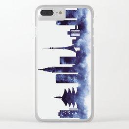 Tokyo Skyline Clear iPhone Case