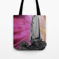 trip Tote Bags featuring trip by lina