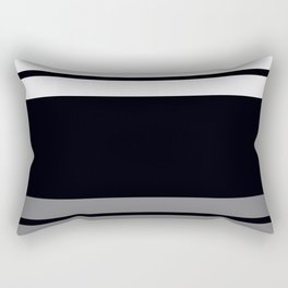 Team Colors 9...Black, white and gray Rectangular Pillow