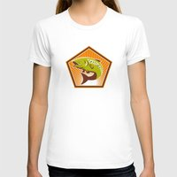 trout T-shirts featuring Trout Fish Jumping Retro by retrovectors