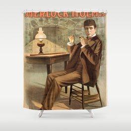 Sherlock Holmes vintage poster art Shower Curtain