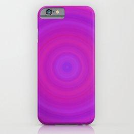 Orange & Purple Gradient Circles iPhone Case