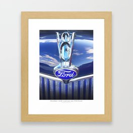 V-8 Hood Ornament Framed Art Print