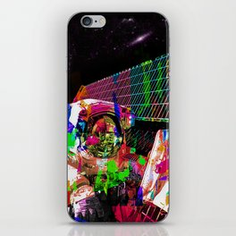 Psychedelic space walk iPhone Skin