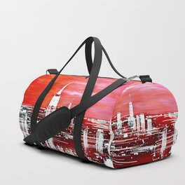 Abstract Red In The City Design Duffle Bag