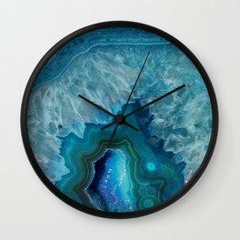 Agate Crystal Slice Wall Clock
