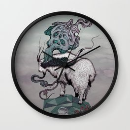Seeking New Heights Wall Clock
