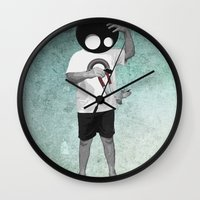 law Wall Clocks featuring LAW by Seamless