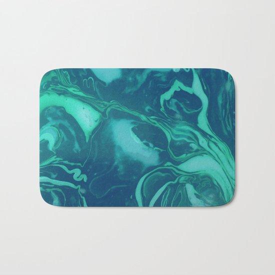Teal Marble Bath Mat