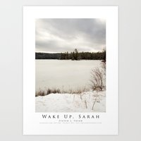 Wake Up, Sarah Art Print