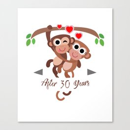 monkeyanniv 30 Canvas Print