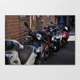 Scooters Canvas Print