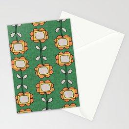 Mod Sunflower Green Stationery Cards