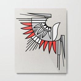 Indigenous eagle simbol illustration Metal Print