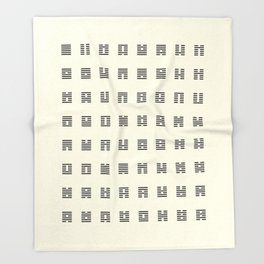 I Ching Chart With 64 Hexagrams (King Wen sequence) Throw Blanket