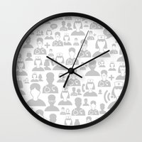 medical Wall Clocks featuring Medical background by aleksander1