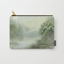 Misty Woodland Stream Carry-All Pouch
