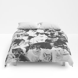 Cats Forever B&W Comforters