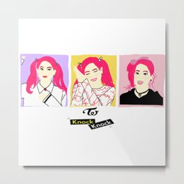 Knock Knock! Dahyun Version Metal Print