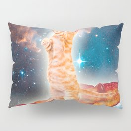 Bacon Surfing Cat in the Universe Pillow Sham