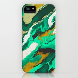 Copper and Teal iPhone Case