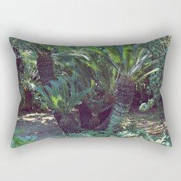 Vintage garden with exotic palm Rectangular Pillow