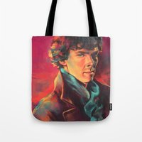 study Tote Bags featuring A Study in Pink by Alice X. Zhang