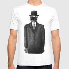 Son of Photographer White Mens Fitted Tee MEDIUM