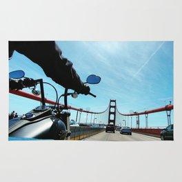 Bikes and Bridges Rug