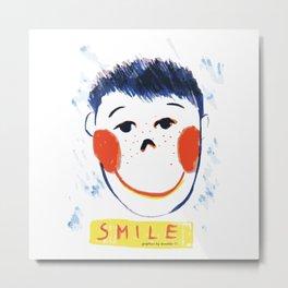 Face smile drawing Metal Print