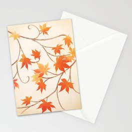 Autumn Leaves are like Flowers Stationery Cards