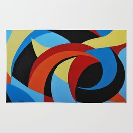 Abstract n.1 - Dancing. Everything Dissolve Rug