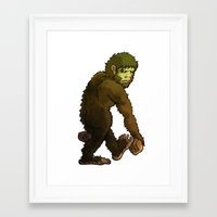 bigfoot Framed Art Prints featuring Bigfoot by JoJo Seames